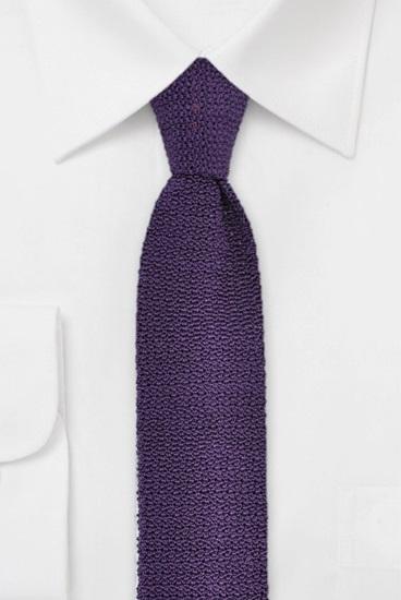 Strickkrawatte 100% Seide Uni Violett 631502-27